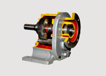 Inline Helical Gear Box cross section