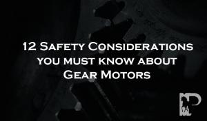 Gear Motors Safety