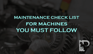 maintenance check list