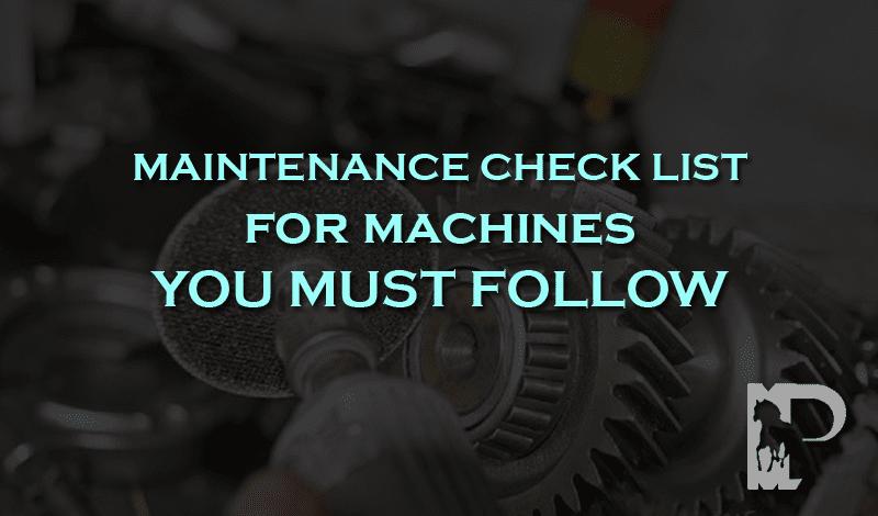 maintenance check list